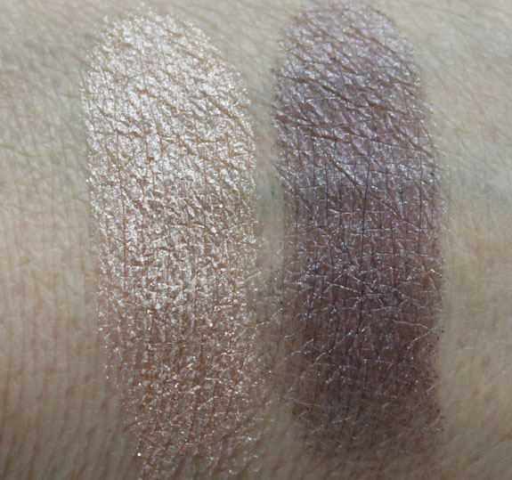 MAC Mineralize Eye Shadow Ice Frost At Midnight Swatches