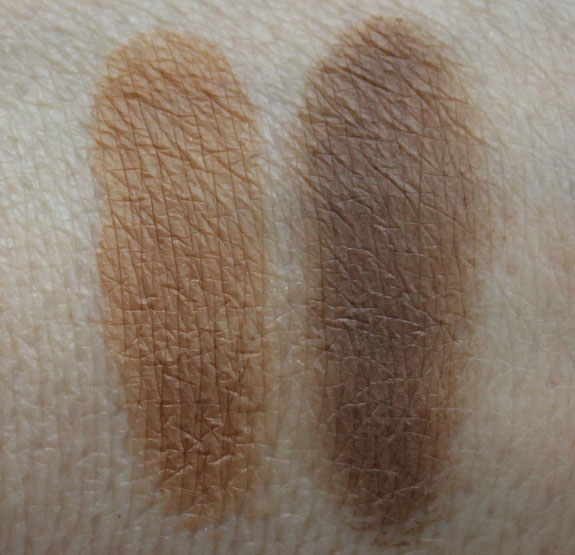 MAC The Stylish Brow Fluidline Brow Gelcreme Redhead Dirty Blonde Swatches