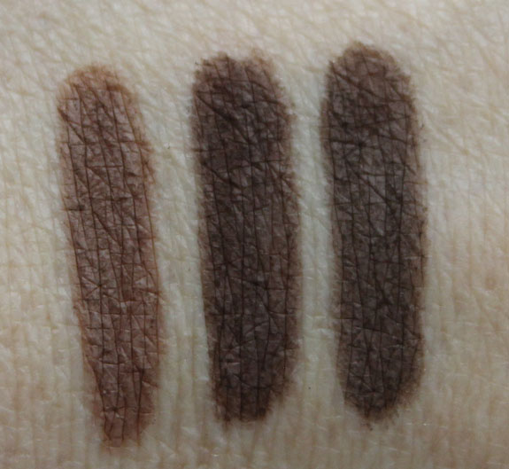 MAC The Stylish Brow Veluxe Brow Liner Swatches