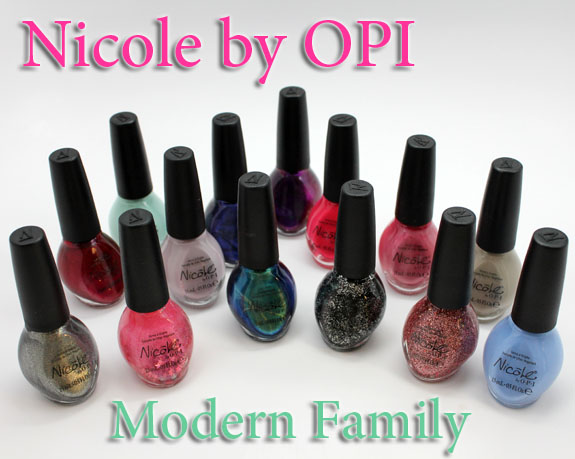 Nicole by OPI Modern Family Nicole by OPI Modern Family Collection Swatches & Review