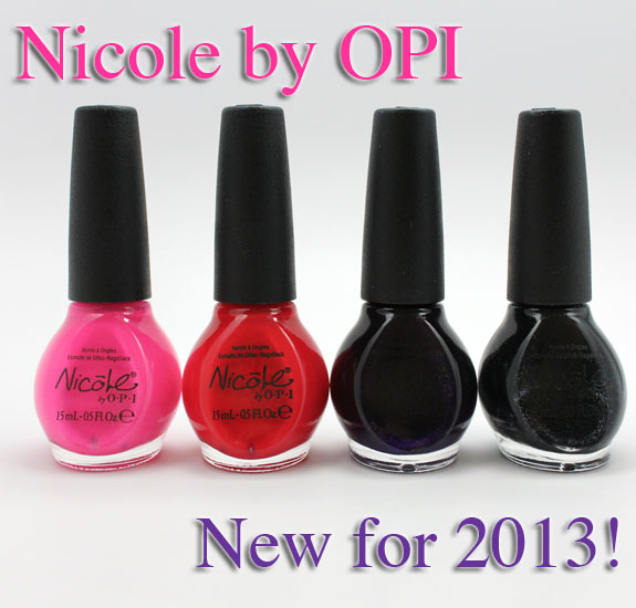 Nicole by OPI New 2013 Shades Nicole by OPI New Lacquers for 2013 Swatches & Review