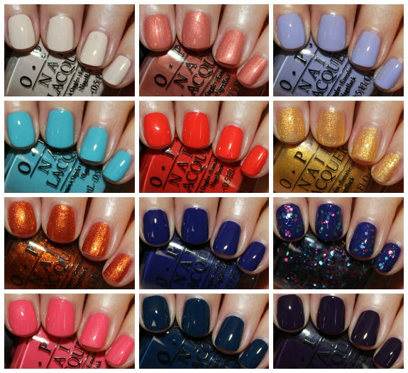OPI Euro Centrale Collage OPI Euro Centrale Collection for Spring/Summer 2013 Swatches & Review