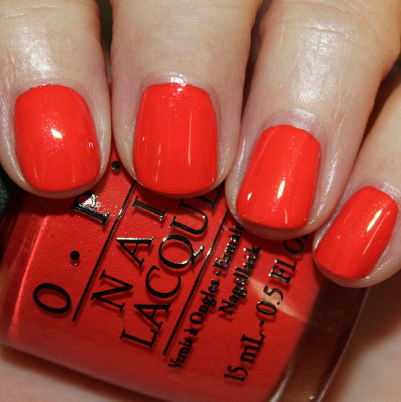 OPI My Paprika Is Hotter Than Yours OPI Euro Centrale Collection for Spring/Summer 2013 Swatches & Review