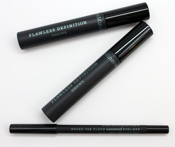 BareMinerals Flawless Definition Mascara and Round The Clock Eyeliner