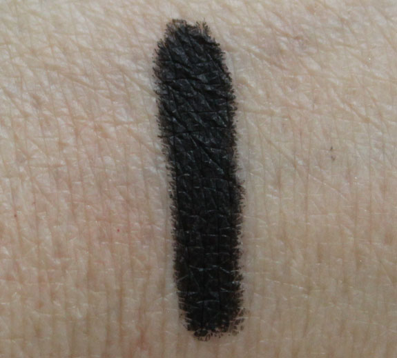 BareMinerals Round The Clock Waterproof Eyeliner in Midnight Swatches