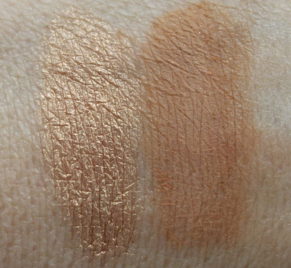 BareMinerals Secret Radiance All Over Face Color and Bronzing Mineral Veil Swatches