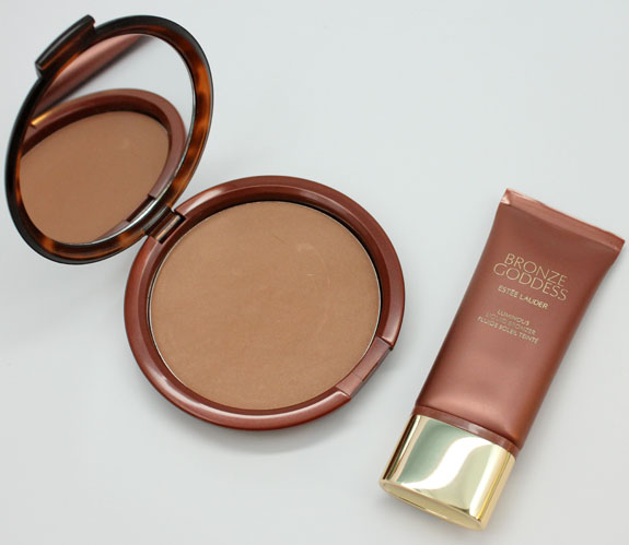 Estee Lauder Bronze Goddess Powder Bronzer Light and Bronze Goddess Liquid Bronzer