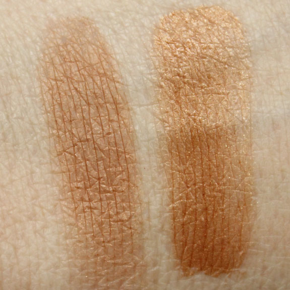 Estee Lauder Bronze Powder Light and Liquid Bronzer Swatches