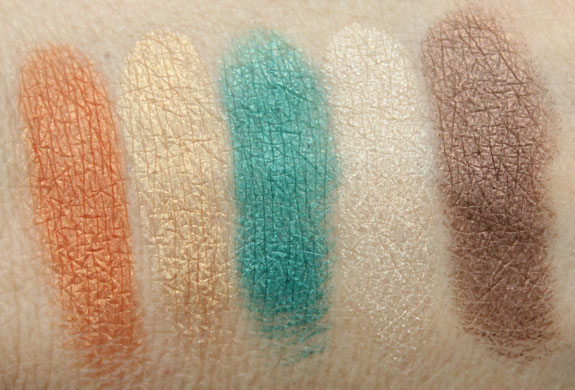 Estee Lauder Five Color Eyeshadow in Batik Sun Swatches