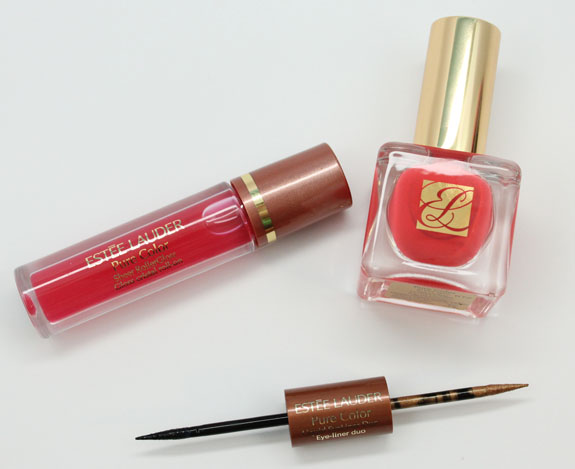 Estee Lauder Liquid EyeLiner Duo in Black Sands, Sheer Rollergloss in Squeeze and Nail Lacquer in Hot Spell