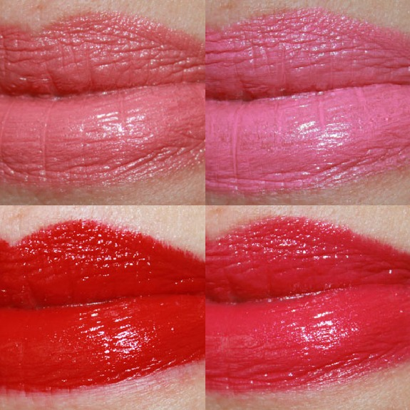 Flower Kiss Stick High Shine Lip Color Collage Flower Kiss Stick High Shine Lip Color Swatches & Review