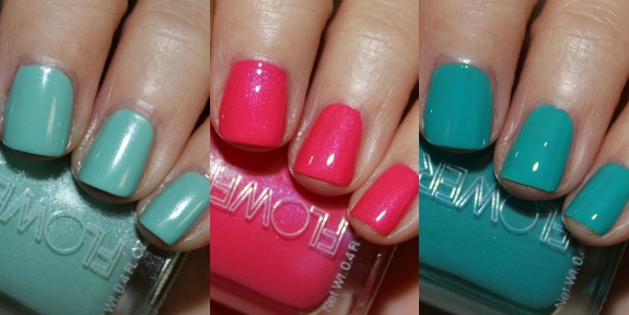 Flower Nail Lacquer Collage