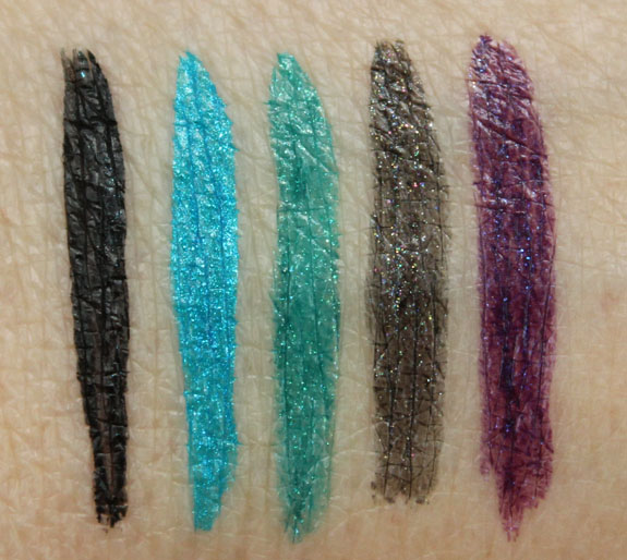 Milani Ultrafine Liquid Eye Liner Swatches