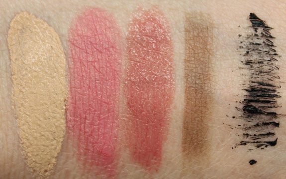 Tarte Journey to Natural Beauty Swatches