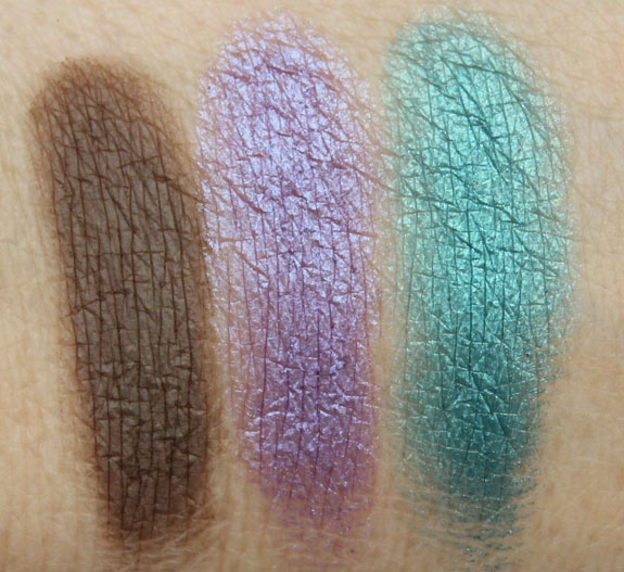 Urban Decay Faint, Omen, Deep End Swatches