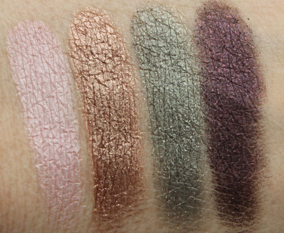Urban Decay Heartless, Sidecar, Snare, Uncut Swatches