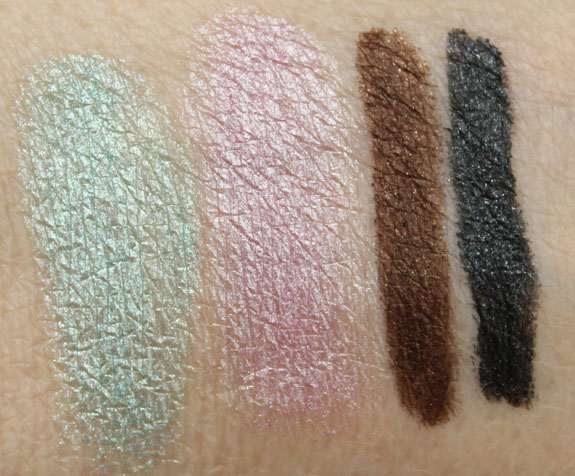 s Girls Betty Eye Liner and Pigment Swatches