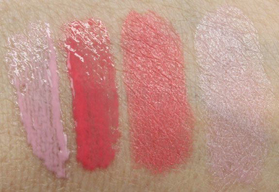 s Girls Betty Lipglass and Lipstick Swatches
