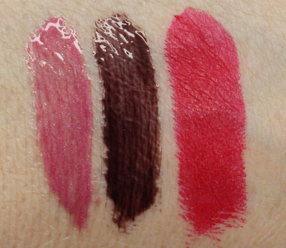 s Girls Veronica Lipglass and Lipstick Swatches