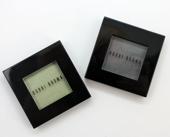 Bobbi Brown Metallic Eye Shadow in Mint and Shimmer Wash Eye Shadow in Gunmetal