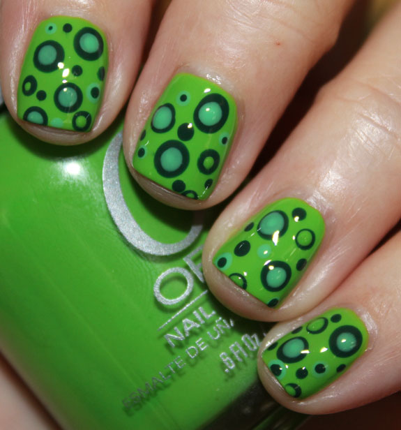 Green Mod Dots with Orly-2