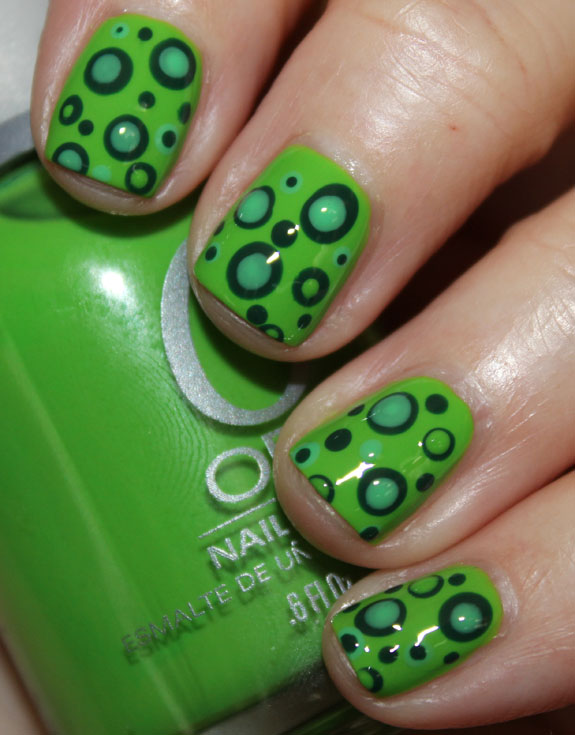 Green Mod Dots with Orly-3