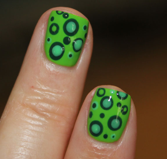 Green Mod Dots with Orly-4