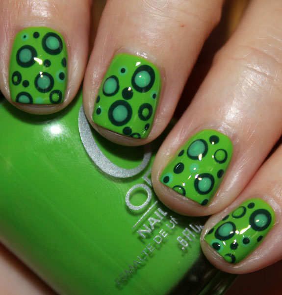 Green Mod Dots with Orly