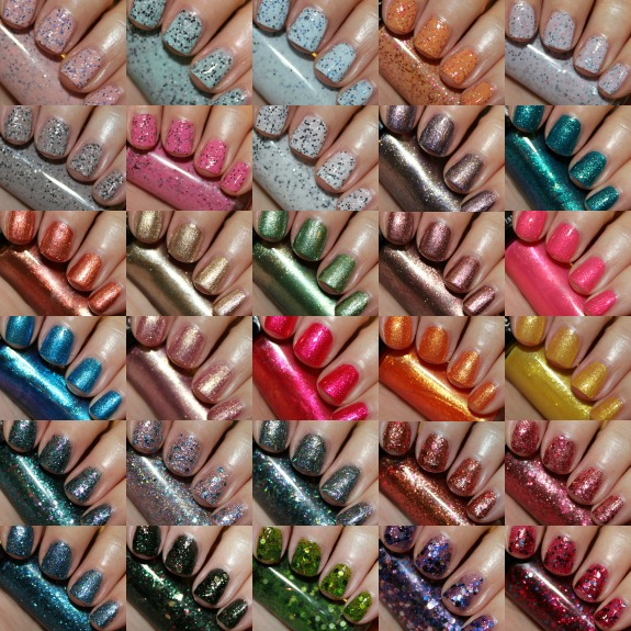 Hard Candy Walmart Nail Lacquer Exclusives Collage