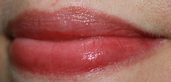 Korres Lip Butter in Plum Lip Swatch