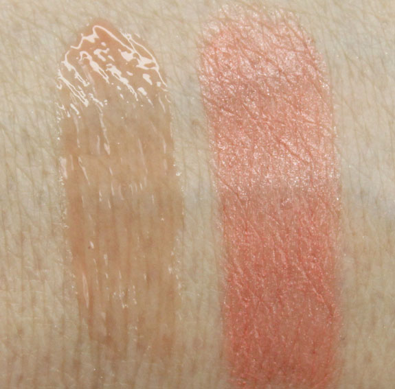 Lise Watier Power Kiss Gloss, Plumpissimo Corail Punch Swatches