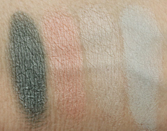 Lise Watier Quatuor Pastel Power Eyeshadow Quartet Swatches