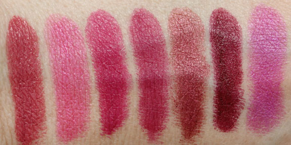 Milani Color Statement Lipstick Plums and Berries Swatches