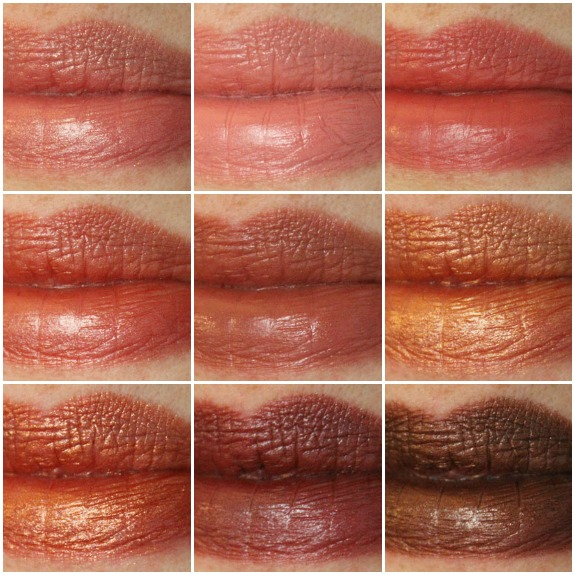 Milani Color Statement Lipsticks in Naturals and Browns Collage