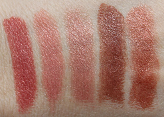 Milani Color Statement Lipsticks in Naturals and Browns Swatches