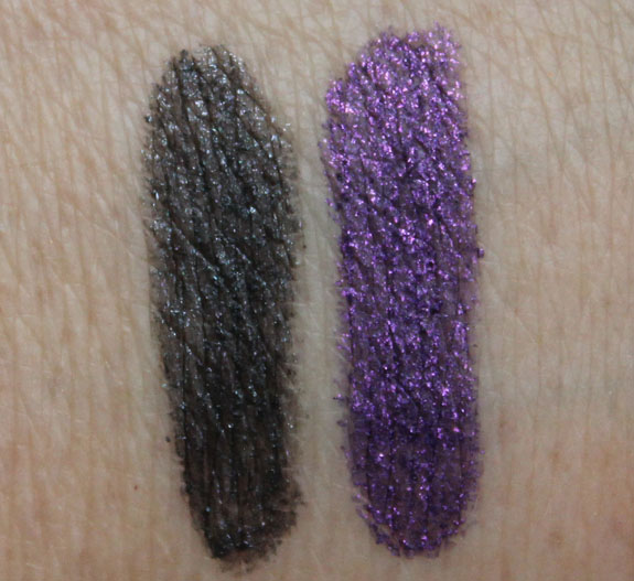 Milani Liquid-Like Eye Liner Pencil in Perfect Purple and Graphite Swatches