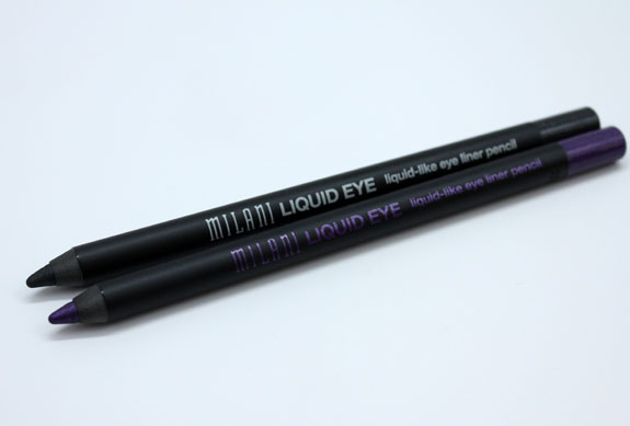 Milani Liquid-Like Eye Liner Pencil in Perfect Purple and Graphite