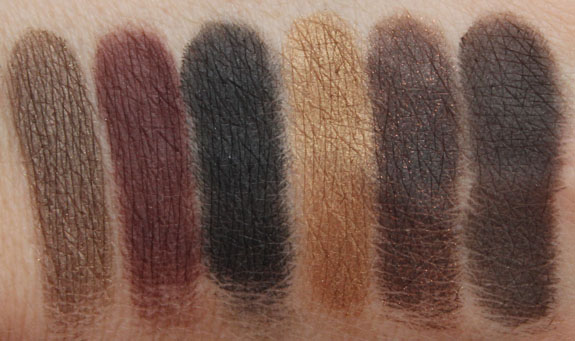 Tude Nude Eyeshadow Palette Swatches-2