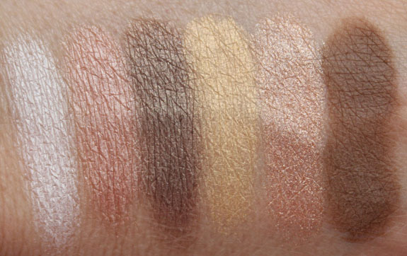 Tude Nude Eyeshadow Palette Swatches