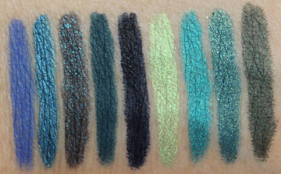 Urban Decay 24-7 Glide-On Eye Pencil Swatches-2