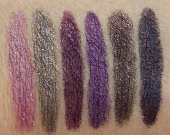 Urban Decay 24-7 Glide-On Eye Pencil Swatches