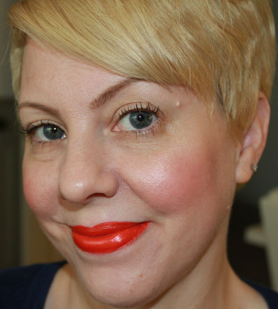 Wearing MAC Neon Orange