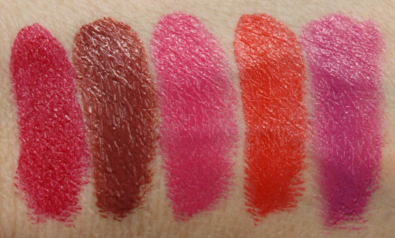 Buxom Full-Bodied Lipstick Swatches
