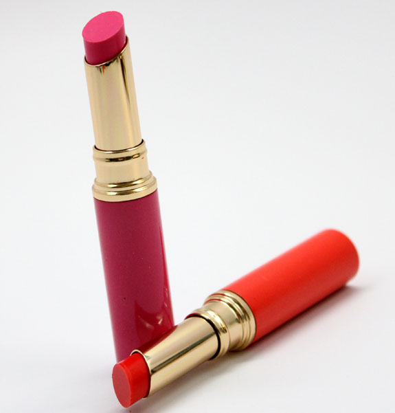 Estee Lauder Pure Color Sheer Rush Lip Shine in Pink Patent and Poppy Shock