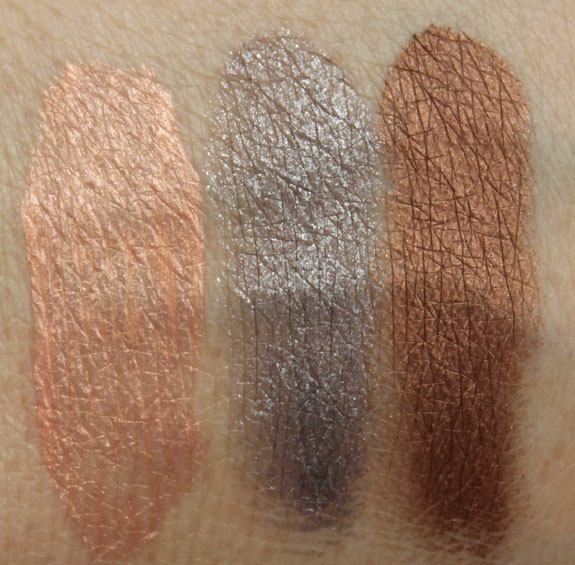 MAC Baking Beauties Pink Rebel, Dabgerous Cuvee, Eclair Swatches