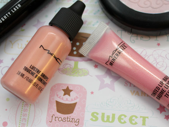 MAC Baking Beauties Pink Rebel Lustre Drops and Cherry Cherry Tinted Lip Balm