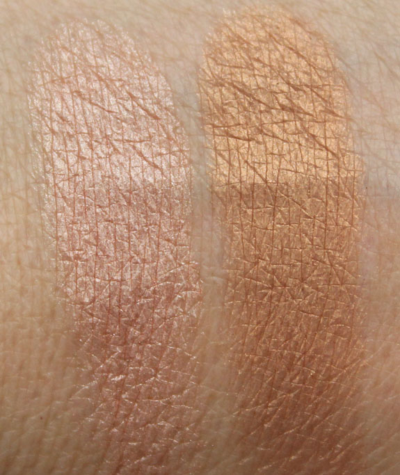 MAC In Extra Dimension Skinfinish Swatches