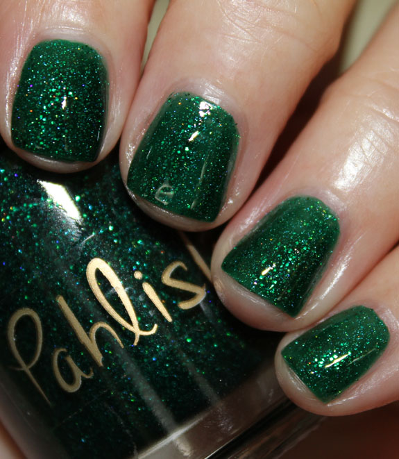 Pahlish Dark Waves of the Sea Pahlish Dark Waves of the Sea and Little Caroline Swatches