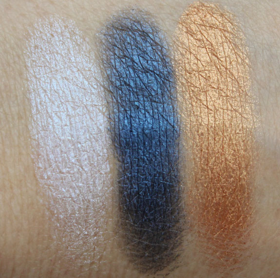 Prestige Total Intensity Bold Trio Eyeshadow Moonstruck Swatches