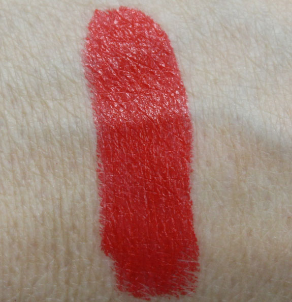 Sonia Kashuk Satin Luxe Lip Color SPF 16 in Red Orange Swatch